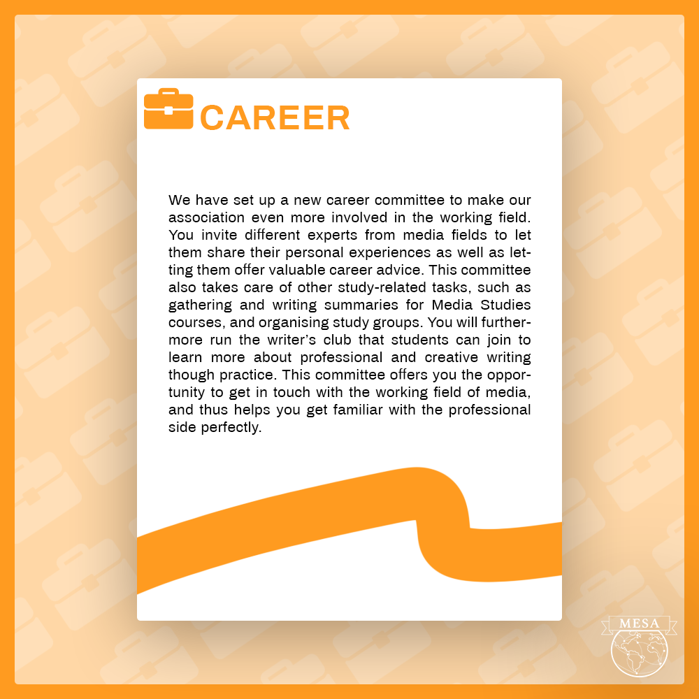 Career committee applications